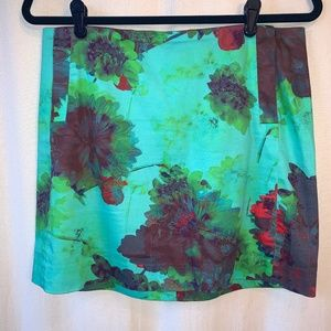 J. Crew Floral Skirt Size 6